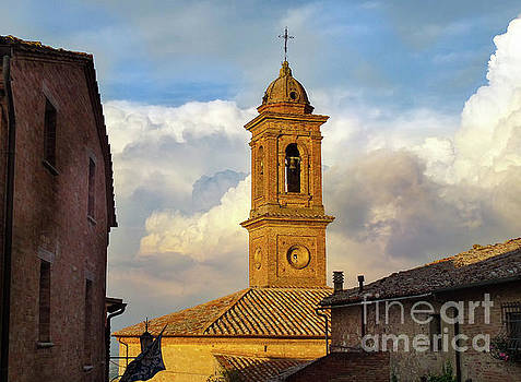 Montepulciano Bell Tower by Norma Brandsberg