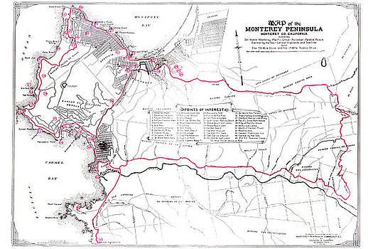 California Views Archives Mr Pat Hathaway Archives - Monterey Peninsula 1923 Map