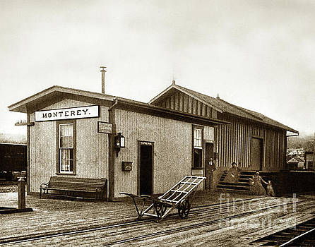 California Views Archives Mr Pat Hathaway Archives - Monterey Southern Pacific Railroad Depot and Western Union Teleg