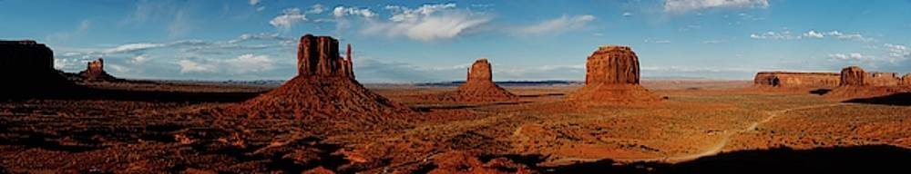 Huge Panorama of the Monument valley, Utah by Kamran Ali