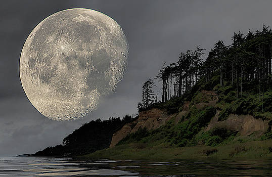 Moon and Beach by Bob Cournoyer