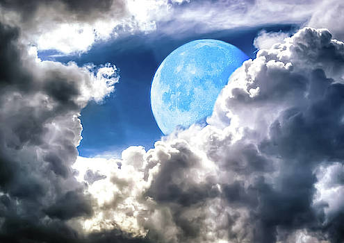 Moon And Clouds by Kathy Gail
