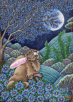Amy E Fraser - Moon Gazing Hare 1