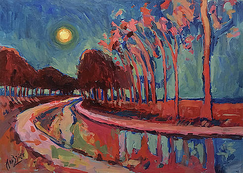 Moon Night at the canal by Nop Briex