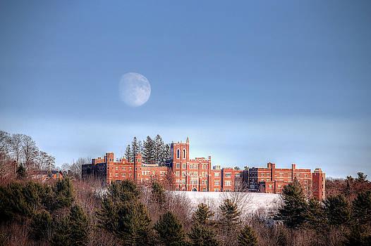 Moon Over Oak Grove  by John Meader