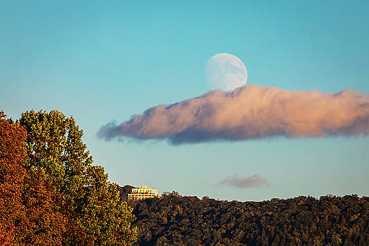 Moon over Summit House by Jim Gillen