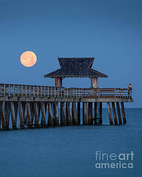 Brian Jannsen - Moon-set Over Naples Pier II