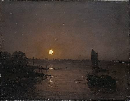 Moonlight, A Study At Millbank by William Turner