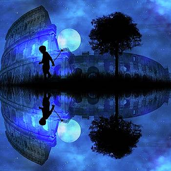 Moonlight Colosseum by Bernd Hau