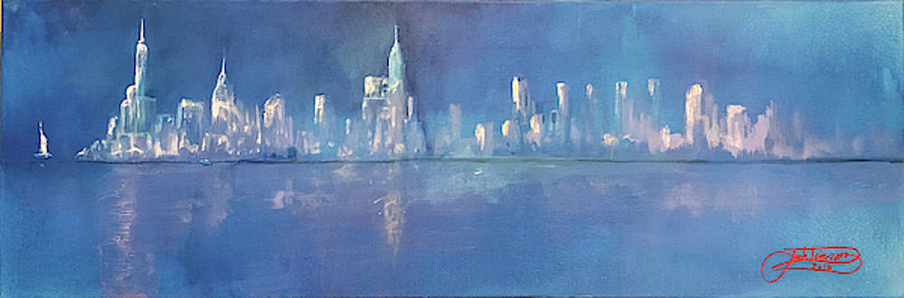 Moonlight On Manhattan  by Jack Diamond