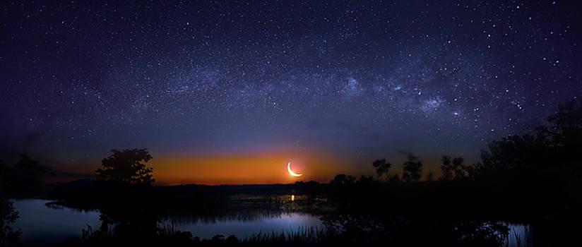 Moonrise at Milky Way Creek by Mark Andrew Thomas