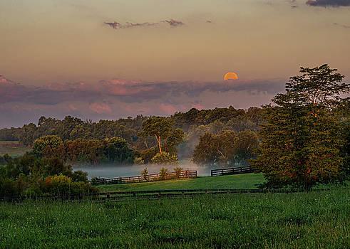 Moonset at Sunrise by Ulrich Burkhalter
