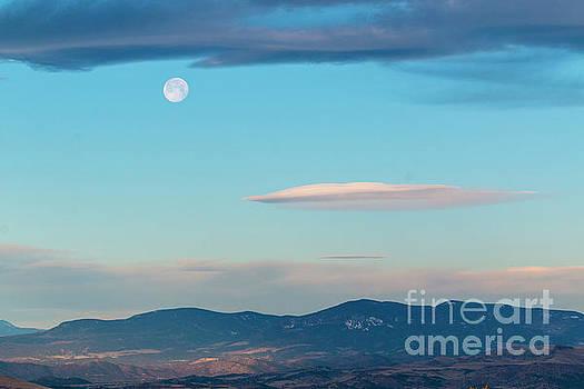 Moonset on the Sangre de Cristo by Steve Krull