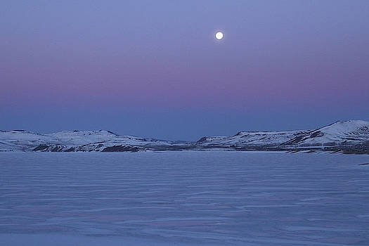 Moonset Over the Gunnison by Marie Leslie