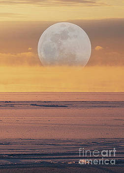 Moonset by Randy Kostichka