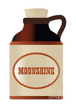 Moonshine Stone Bottle With Cork And Logo by Bigalbaloo Stock