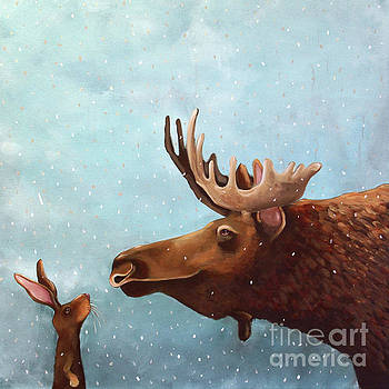 Moose and Rabbit by Lucia Stewart