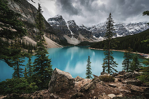 Moraine Lake in Banff National Park in Canada by Kamran Ali