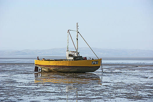 MORECAMBE. Yellow Fishing Boat. by Lachlan Main
