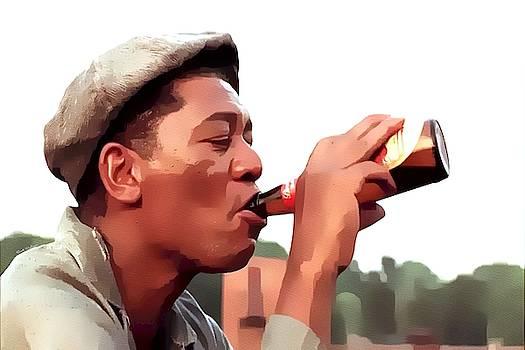 Morgan Freeman Feeling Free by Scott Wallace Digital Designs