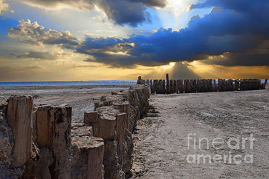 Sunrise at the Pier by Sherry Little Fawn Schuessler