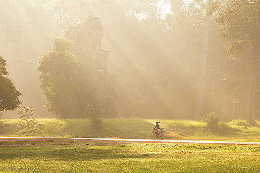 Morning Rays of Angkor by Darren Wilch