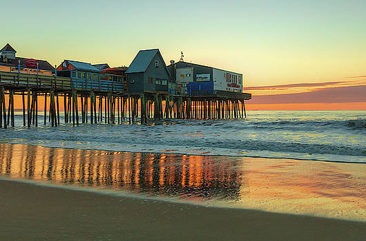 Morning Reflections Old Orchard Beach by Dan Sproul