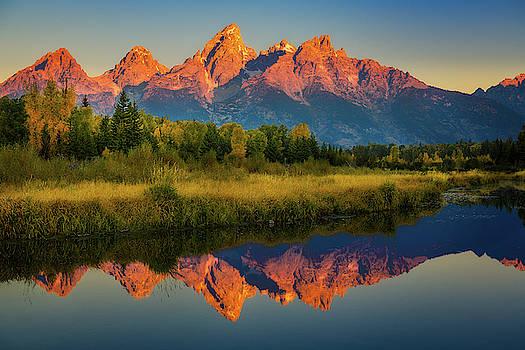 Morning View of Grand Tetons by John Hight