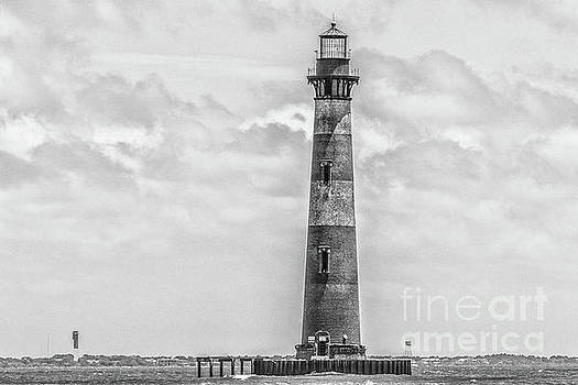 Morris Island Lighthouse - Charleston Monochrome by Dale Powell