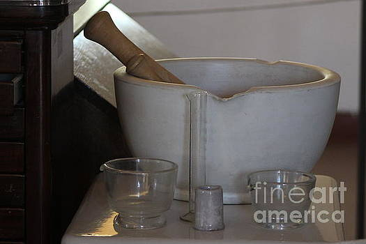 Mortar and Pestle at Fort Stanton New Mexico by Colleen Cornelius
