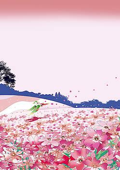 Moss phlox by Ryuji Kawano
