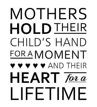 Mother Love - Motivational Quotes - Minimalist Poster - Black and White by Siva Ganesh