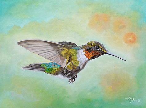 Motley Flying Hummer by Angeles M Pomata