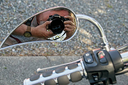 Motorcycle Mirror Image by Mick Anderson