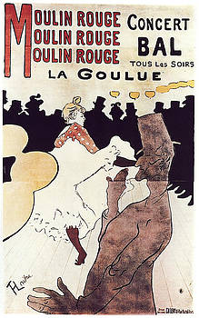 Moulin Rouge - 1891 - PC 2 by Henri de Toulouse-Lautrec