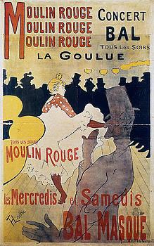 Moulin Rouge - 1891 - PC 3 by Henri de Toulouse-Lautrec