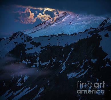 Mount Baker Moonlight by Mike Reid