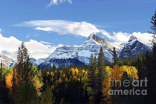 Mount Fryatt second tallest mountain Jasper National Park Alberta Canada by Robert C Paulson Jr