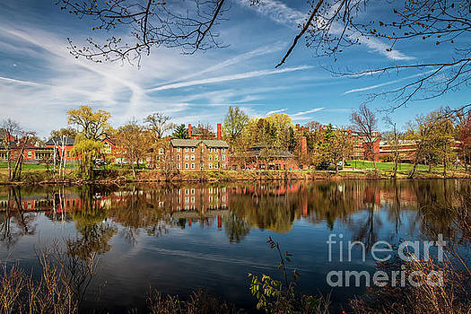 Mount Holyoke College from Lower Pond by Elizabeth Dow