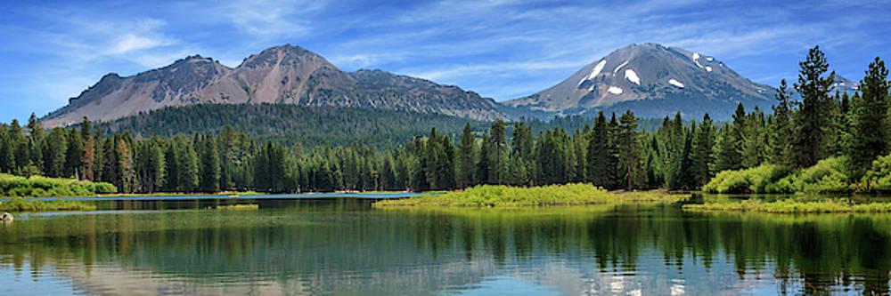 Mount Lassen And Manzanita Lake Panorama by James Eddy