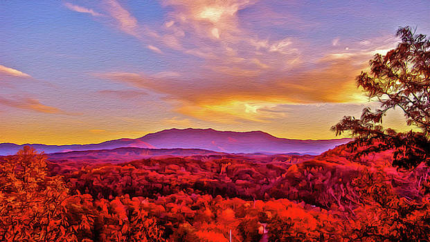 Mount LeConte with Oil Paint Filter by Ryan Tarrow