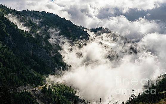 Mount Rainier National Park Stevens Canyon Cloudscape by Mike Reid