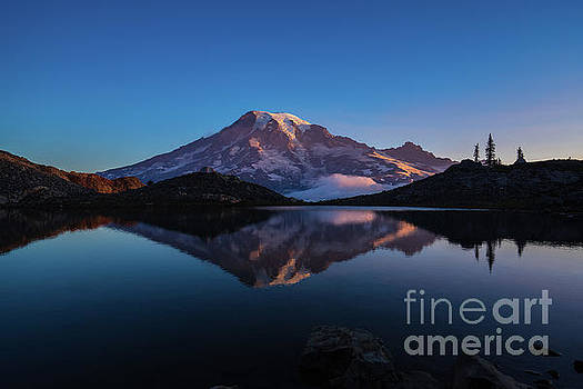 Mount Rainier Photography Cool Reflection by Mike Reid