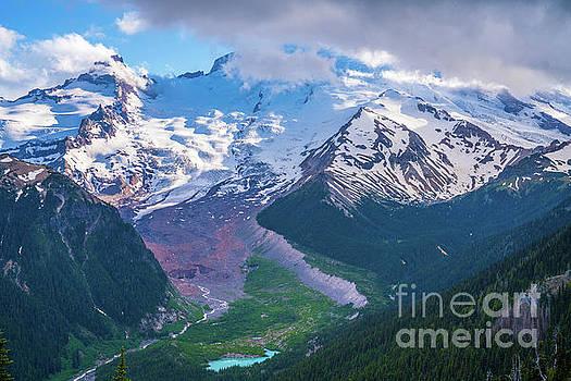Mount Rainier Photography Sunrise Side by Mike Reid