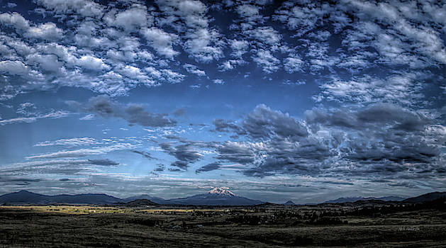 Mount Shasta Evening Panoramic by Mick Anderson