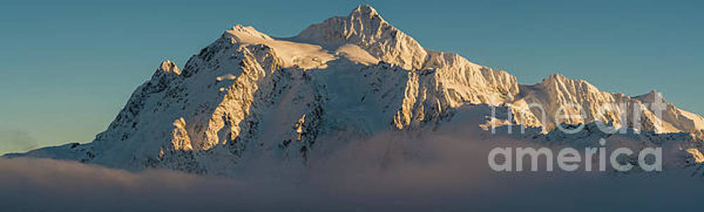 Mount Shuksan Pano Above the Clouds by Mike Reid