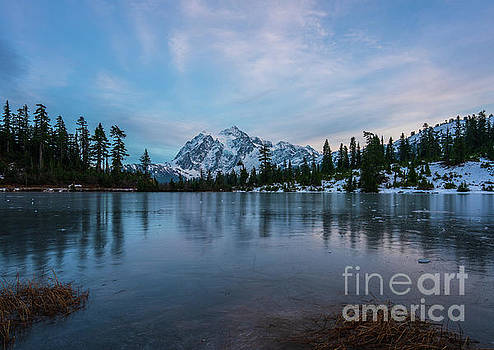 Mount Shuksan Picture Lake First Freeze by Mike Reid