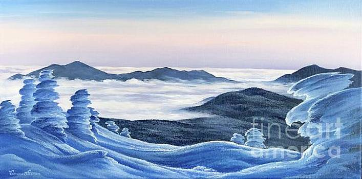 Mountain Eagle. View of Crawford Notch from Mt. Jackson by Varvara Harmon
