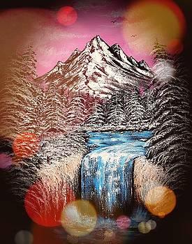 Mountain in winter beauty stardust  by Angela Whitehouse