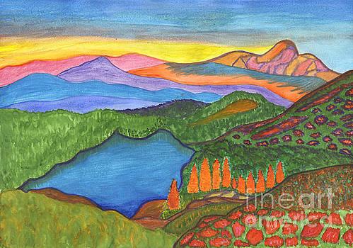 Mountain Lake. Landscape painting by Irina Dobrotsvet